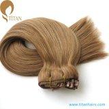 30% de rabais sur la vente en usine Remy Human Hair Clip in Lace Weft