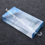 Recintos plegables impresos insignia de calidad superior del rectángulo del plástico claro del animal doméstico con el gancho de leva