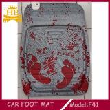 Esteira material do tapete do carro da pele da pegada