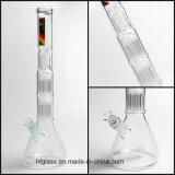 Neuer Zob mini doppelter Glasbecher-rauchendes Glasrohr mit dem 10 Arm-Baum
