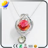 925 gemas embutidas plata pura naturales de Topa pendientes