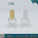 10mlスプレーが付いている正方形の明確で装飾的なガラス香水の油壷