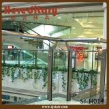 Balustrade en verre de balustrade de balcon d'acier inoxydable de centre commercial (SJ-H1424)