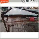 het Af:drukken Silkscreen/het Zuur van 319mm etst/de Berijpte/Onregelmatige Gebogen Aangemaakte Veiligheid van het Patroon/Gehard glas voor Deur/Venster/Douche met SGCC/Ce&CCC&ISO- Certificaat