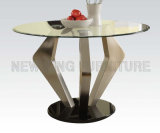 Comtemporâneo novo que janta a tabela de cozinha pequena do aço inoxidável dos jogos (NK-DTB058)