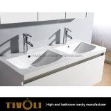 固体表面の上Tivo-0001vhとの卸し売り白く小さい浴室の虚栄心