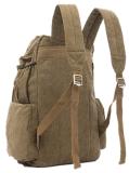 ترقية [منس] نوع خيش وجلد يرفع سفر مدرسة وقت فراغ حمولة ظهريّة حقيبة