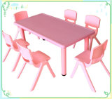 Made in China Melhor preço Rectangle Plastic Kindergarten Table and Chairs