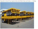 acoplado del envase de la capacidad de cargamento de 3axles 60tons