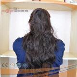 100%加工されていないブラウンRemyの人間の毛髪の大きさ(PPG-c-0097)