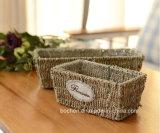 (BC-SF1007) respetuoso del medio ambiente natural hecho a mano de paja cesta de la flor