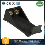 Le PC de support de batterie de 9 V goupille l'installation, support de batterie