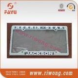 Cubierta de encargo de acero de la placa del coche de la insignia de la etiqueta engomada de Satinless