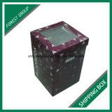 Venda por atacado ondulada da caixa da caixa do transporte da flor da impressão Offset