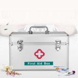 Kit de primeros auxilios que bloquea la plata de la cabina de medicina del rectángulo de almacenaje de la receta