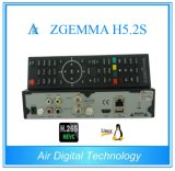 Novo Melhor Receptor de Satélite ZTA H5.2s ZTA Dual Core Linux OS E2 H. 265 / Hevc DVB-S2 + S2 Twin Tuners