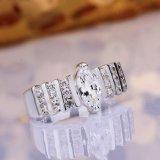 Ring van de Vinger van de Diamant van het Zirkoon van het Ontwerp van de Juwelen van de Douane van de manier de Eenvoudige