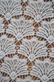 Tessuto materiale del merletto del poliestere con il disegno del reticolo del ventilatore
