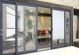 Алюминиевая стеклянная раздвижная дверь патио с экраном