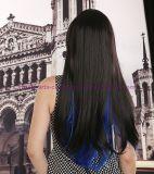 긴 작풍 혼합 색깔을%s 가진 합성 머리 가발