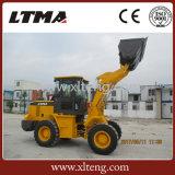 中国の卸売2トンの1.2cbmバケツが付いている小型車輪のローダー