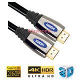 Câble de V1.4 plaqué par or HDMI avec la tresse en nylon
