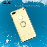 Shs aplicó caja del teléfono celular con brocha de la sensación de la mano del aluminio TPU de la raya la buena para la nota 5 de Samsung
