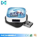 Quadratisches kundenspezifisches einziehbares USB-Speicher-Blitz-Großhandelslaufwerk