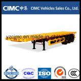Cimc 3 Wellen-Flachbettschlußteil mit einzelnem Gummireifen