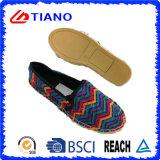 Chaussures plates et confortables colorées de femmes de santals de pêcheur (TN36704)