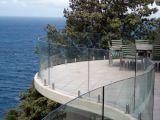 Balustrade en verre Tempered de Frameless de qualité pour la terrasse