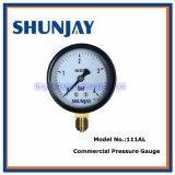 黒い鋼鉄高品質の圧力計
