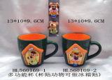 Кружка шаржа 3D горячего сбывания Handmade художническая для кофеего с магнитом