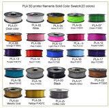 3D 인쇄 기계를 위한 도매 변경 색깔 PLA 필라멘트