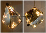 2017 Nueva ahumado estilo diamante Lámparas Moderno