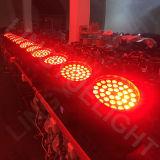 Pista móvil de la viga de la iluminación 36X18W LED del disco DMX de la etapa
