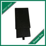 Cadre de papier rigide noir de tiroir de cadeau de Matt