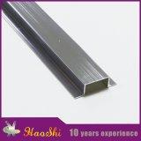 Ajuste de aluminio de plata Polished sólido del azulejo para la separación del suelo