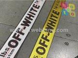 Kundenspezifisches Jacquardwebstuhl-Polyester-gewebtes Material mit eigenem Firmenzeichen