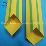 Gelbes Grün entfernte Polyolefin-Wärmeshrink-Draht-Markierungs-Hülse