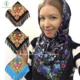 Neue Form-Frauen gedruckt quadratischer Schal-Sprung/Winter-Schal mit Troddel