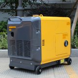 Tipo silencioso popular generadores portables de poco ruido diesel la monofásico del bisonte (China) BS6500dsea 5kw 5kv 5000W del hogar