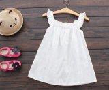 子供の女の子の夏のスカートの方法は波カッコの服を印刷した