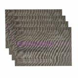 고아한 자카드 직물 직물 절연제 탁상 & 마루를 위한 미끄럼 방지 홈 PVC Placemat