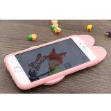 caixa do silicone do telefone móvel do coelho dos desenhos animados 3D para o iPhone 7