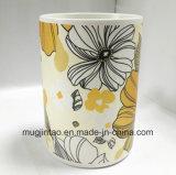 Taza llena de cerámica de China de hueso de la insignia de la impresión de la taza de café del servicio de mesa
