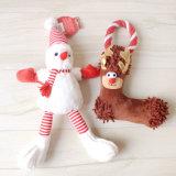 Juguetes del animal doméstico del sonido del traje del algodón de la felpa del muñeco de nieve del árbol de navidad