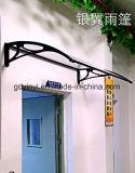 DIYは保護されるドアのWindowsの家のおおいの紫外線のためのポリカーボネートの日除けを取り除く(YY1000-N)