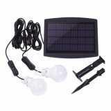 Solar Power Bulb Light 2W Bright Garden Yard Sensor de luz Outdoor Waterproof Solar Lamp with Ground Spike