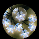 5m / 6m / 7m Solar Powered Snowflake String Lights 20/30/50 LED Festival de fête de Noël Outdoor Garden Patio Decor Lamp